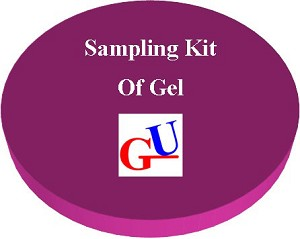 Gel Sampling Kit contains a Gel Sample of your choice of thickness and lining.